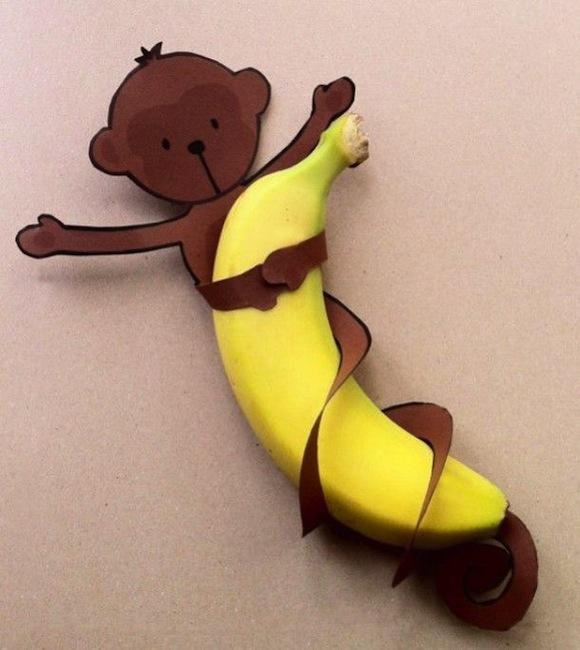 Aapje om banaan traktatie DIY