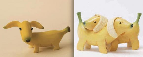hondje maken van banaan